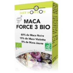 Maca Force 3 Bio - 60 Gélules - Diet Horizon