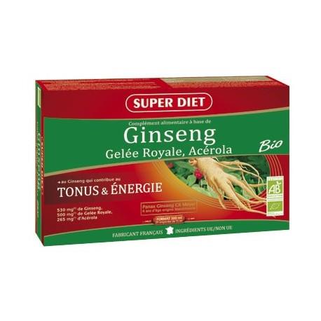 Ginseng, Gelée Royale, Acérola - Lot de 2 -SuperDiet