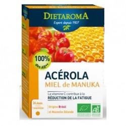 Acérola 1000 & Miel de Manuka - 24 comprimés - DIETAROMA