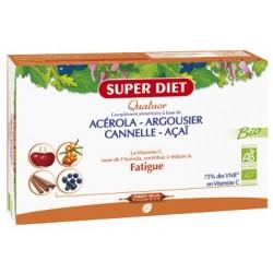 Quatuor Acérola Argousier Cannelle AcaÏ - Ampoules -SuperDiet