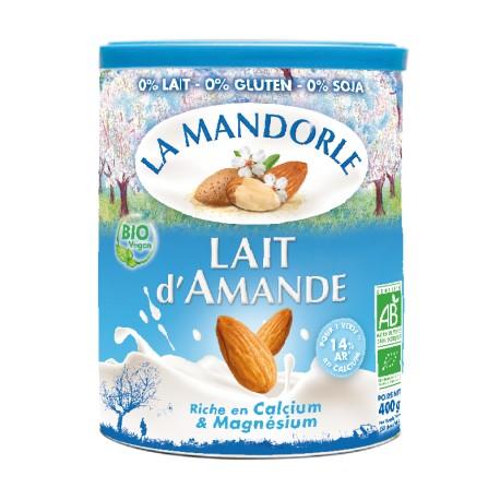 Boisson végétale Instantanée Bio Lait d'Amande 400g-La Mandorle