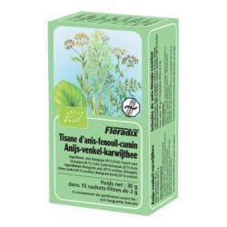 Tisane Anis Fenouil Cumin - 15 Infusettes - Floradix