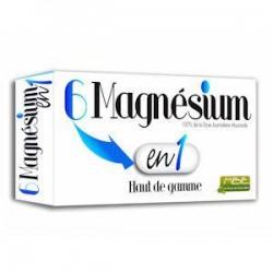 6 Magnésium en 1 - Haut de Gamme - 60 Gélules- MBE