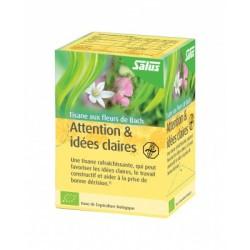 Attention & Idée Claires aux Fleurs de Bach - 15 Infusettes - Salus
