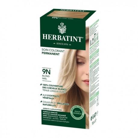 Coloration Cheveux Naturelle 9N Blond Miel - 150ml - Herbatint