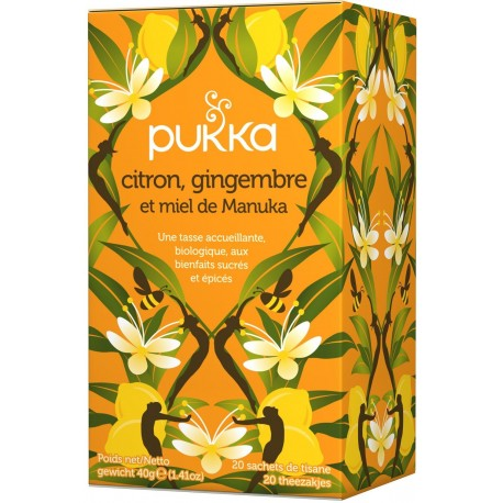 Citron, Gingembre, Miel de Manuka 40g-Pukka