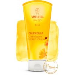 Crème Lavante Corps et Cheveux au Calendula 200ml-Weleda