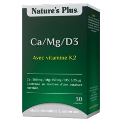 Ca/Mg/D3 - 30 Comprimés - Nature's Plus