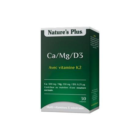 Ca/Mg/D3 - 30 Comprimés - Nature's Plus