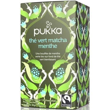 Thé Vert Matcha Menthe 30g-Pukka