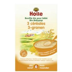Bouillie Bio pour Bébé 3 céréales 250g-Holle
