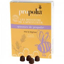 Gomme de Propolis Miel et Réglisse - 45g - Propolia