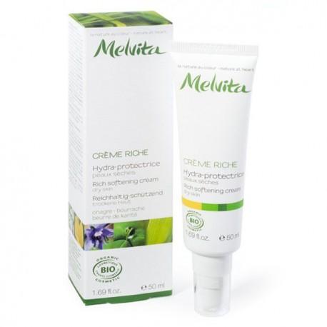 Crème Riche Hydra-protectrice Peaux sèches 50mL-Melvita