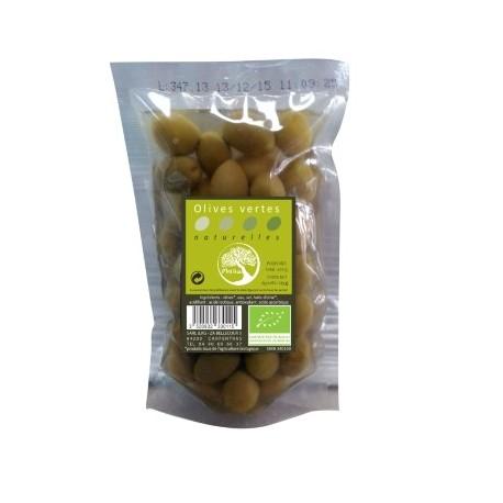 Olives vertes dénoyautées 650g-Philia