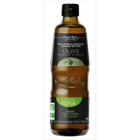 Huile d'Olive Vierge Extra Bio Origine France Emile Noel 500ml