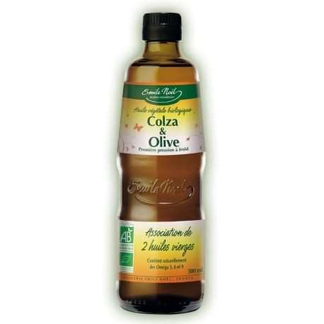 Huile Végétale de Colza & Olive Bio Emile Noel, 1L