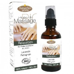 Huile de Massage Bio Relaxation - 50ml - NatureSun Aroms