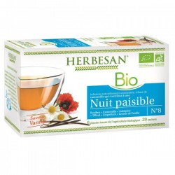 Infusion Bio Nuit Paisible - 20 Sachets - Herbesan