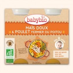 Mais Doux & Poulet Fermier du Poitou - 2 x 200g - Babybio