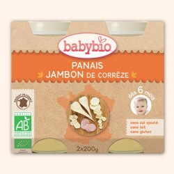 Pomme de Terre, Petits Pois et Jambon de Corrèze Bio - 2 x 200g - Babybio