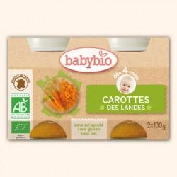 Petits Pots Carotte des Landes - 2 x 130g - Babybio