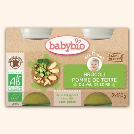 Petits Broccoli Pomme de Terre du val de Loire - 2 x 130g - Babybio
