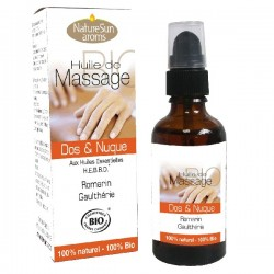 Huile de Massage Bio Dos et Nuque - 50ml - NatureSun Aroms