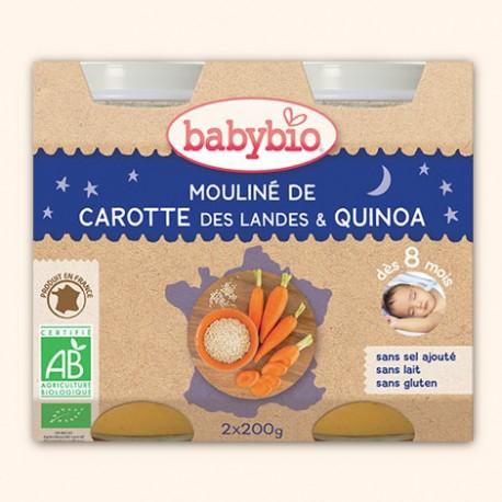 Mouliné de Carottes des Landes et Quinoa Bio - 2 x 200g - Babybio