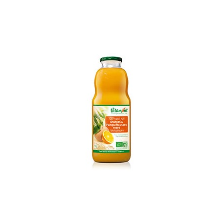 Jus d'Orange et Pamplemousse Rose Bio 1L-Vitamont