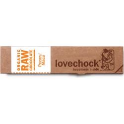 Barre de Chocolat Cru Pecan/Maca - 40g - Lovechock