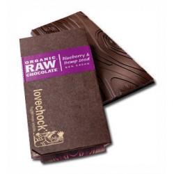 Tablette de Chocolat Cru Mrtille & Graines de Chanvre - Lovechock