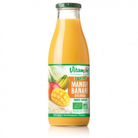 Cocktail Mangue Banane Bio 0.75L-Vitamont