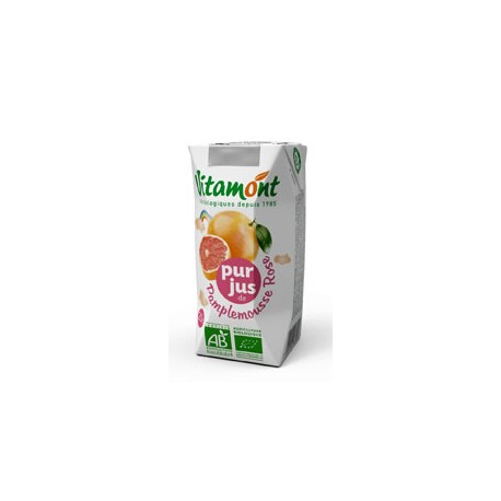 Jus de Pamplemousse Rose Bio Tétra Pak 6x0.20L-Vitamont