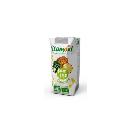 Jus d'Ananas Bio Tétra Pak 6x0.20L-Vitamont