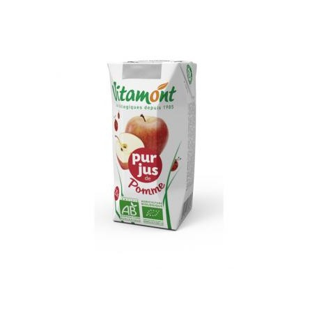 Jus de Pomme Bio Tétra Pak 6x0.20L-Vitamont