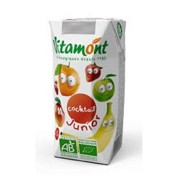 Cocktail Junior 100% Pur Jus de Fruits Bio Tétra Pak 6x0.20L-Vitamont