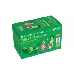 Thé Vert Earl Green 20 Infusettes-Les Jardins de Gaia