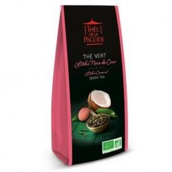 Thé Vert Litchi Noix de Coco - Thés de la Pagode - 110g