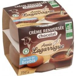 Crème Renversée Chocolat au lait de Brebis Bio - 2x110g - Annie Lagarrigue