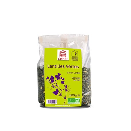 Lentilles Vertes, Celnat, 500g