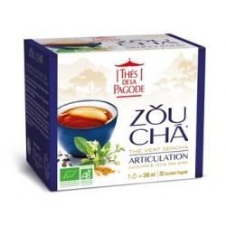 Zou Cha, Thé vert Sencha, Articulation, Infusettes Bio 60g-Thés de la Pagode