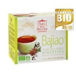 Bajiao, Thé Pu-Erh, Digestion, Infusettes Bio 45g-Thés de la Pagode