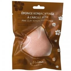 Eponge Konjac Visage à l'Argile Rose - 30g - Beliflor®