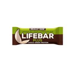 Lifebar Plus Chocolat et Protéine verte - 47g - Lifefood