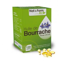 Huile de Bourrache - 120 Capsules - Nat & Form