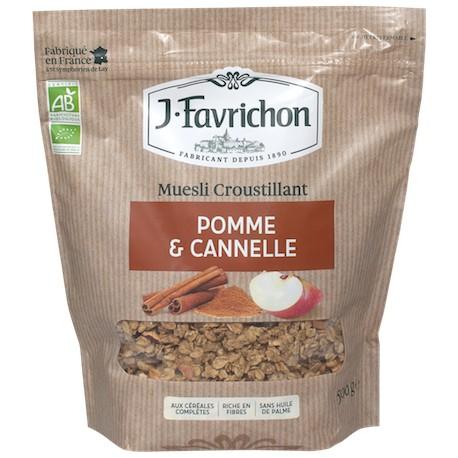 Muesli Croustillant Pomme et Cannelle 500g-Joseph Favrichon