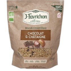Muesli Croustillant Chocolat Châtaigne 375g-Joseph Favrichon