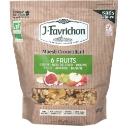 Muesli Croustillant 6 Fruits 500g-Joseph Favrichon