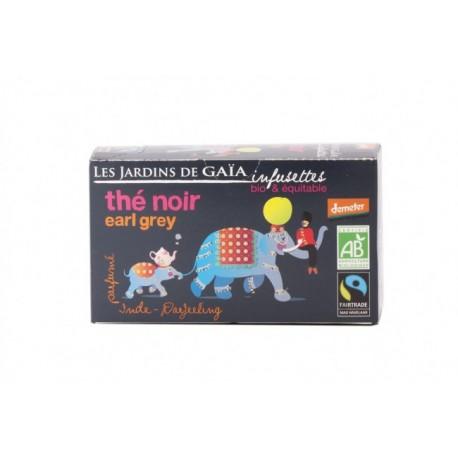 Thé Noir Earl Grey, Infusettes Bio 32g-Les Jardins de Gaia