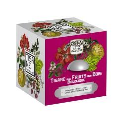 Coffret Tisane aux Fruits des Bois Bio - Provence d'Antan - Boîte Métal 24 Sachets